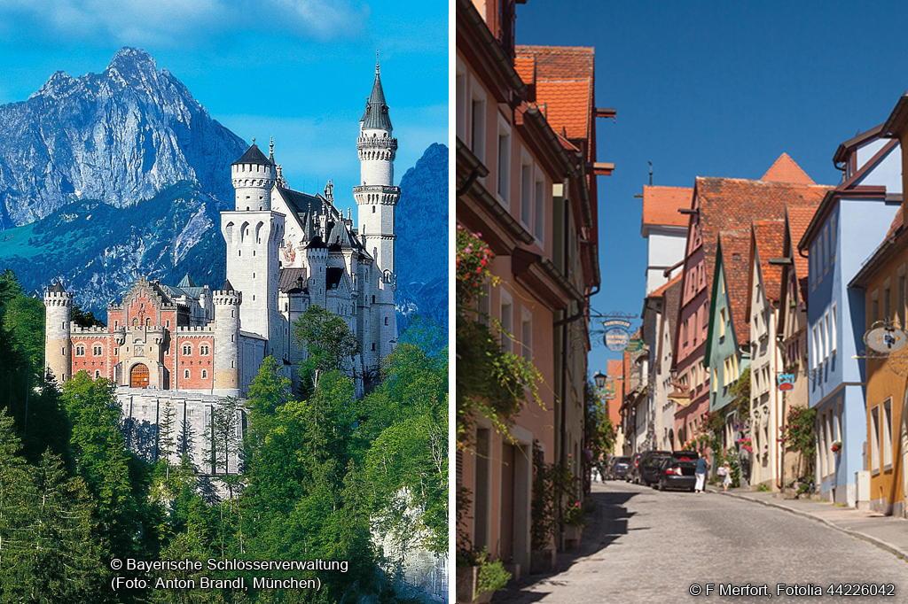 Neuschwanstein und Rothenburg